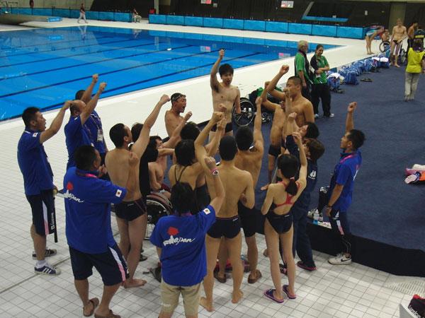 ロンドン2012パラリンピック 競技会場にて(「声だし」風景)